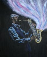 Saxophone Man by Charmed-Ravenclaw