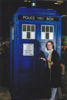 Eighth Doctor and TARDIS - Austin ComicCon 2014 by le-letha