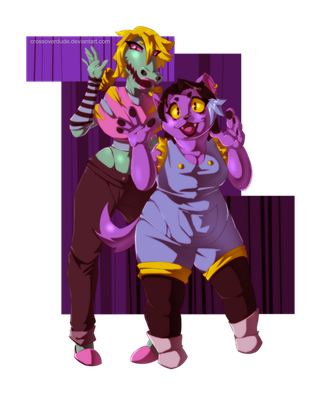 Bratty and Catty by Crossoverdude