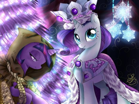 Happy Hearth's warming eve (unicorns) by Daughter-of-Fantasy