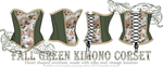 DESIGN : Fall Green Kimono Corset by taeliac