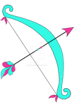 teal and pink bow and arrow by stockmichelle