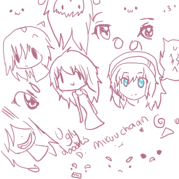 Ugly Purple Doodles by MikuuChaan
