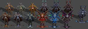 'Heroes of the Storm' Sylvanas Pack XPS ONLY!!! by lezisell