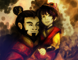 Iroh and LuTen (Version II) by Greywolven