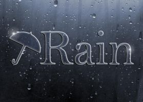 Rain on Metal Logo by Kittensoft