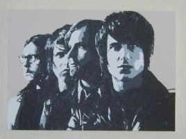 Kings Of Leon pop art canvas by covtown31