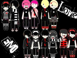 Dress Up Creation Of Emo Love by deadbunni