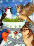 An Avian Christmas Party by lemurkat