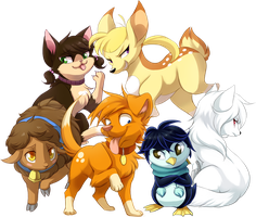 Jake n' Pals Animalized! by DragginCat