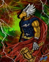 Beta Ray Bill a color by halleymurray