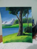 Landscape Acrylic painting by Geebler-art