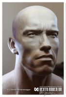 Arnold  Schwarzenegger 1:1 Almost DONE by Pedro-Moretto