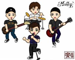 Chibi Hedley Group Coloured by billiej0e