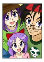 Ben, Hitomi and Kira Selfie by ArthurT2013