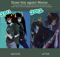 Before and After Meme by Sannanai