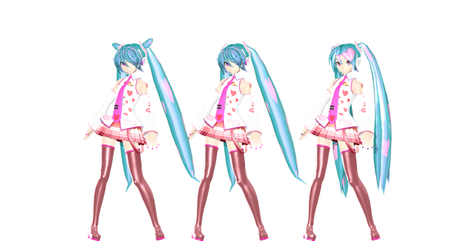 MMD: DT love miku DL by AED1234PD