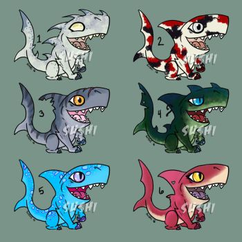 OPEN Sharkies Batch 1 by sushi-just-ask