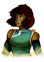Short Haired Korra by sugarcoffeecup