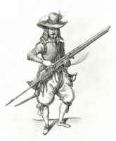 17th century musketeer by Mihin89