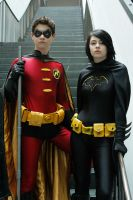 Batgirl and Robin by arivin923