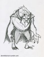 Daily Warm-up: Beast from Beauty and the Beast by derekblairart