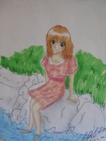 Sitting on the rocks by TheReza13
