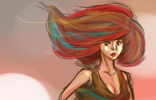 Looks Like A Girl But She's A Flame Bust by DshawnC