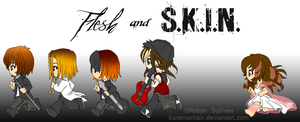 Flesh and SKIN CHIBIS by kuramachan