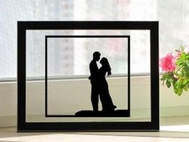 Couple Hugging Handmade Original Papercut by DreamPapercut