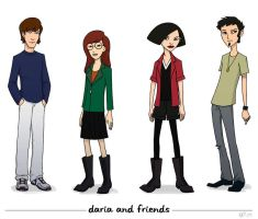 Daria and friends by eve-bolt