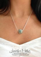 Teal Ball Necklace by ArteDiAmore