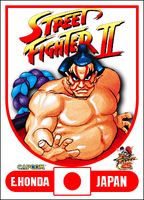 E. Honda - Street Fighter 2 Retro Card by MrABBrown
