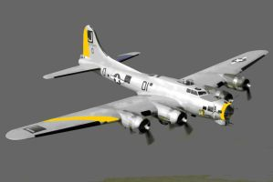 B17 Flying Fortress Plane Paint By Number Art Kit by numberedart