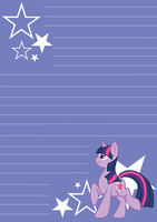MLP: FiM Twilight Notepaper by Dekkii