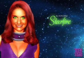 Alison Brie as Starfire by MacAddict17