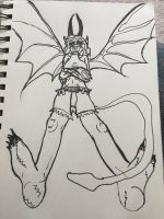 CDC: Day 6 - Molly in Demon Form by Dalmonite