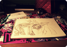 Sketchbook in progress by MadBlackie