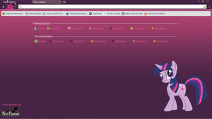 Twilight Sparkle Theme GChrome by Julien12826