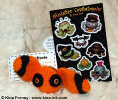 Halloween Rembit with Stickers by kina