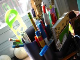 Pens and Pencils by wusk