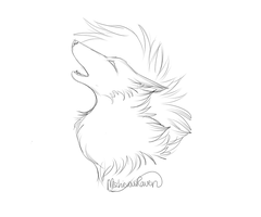 FREE TO USE: Howling Wolf Bust by MischievousRaven