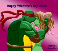 Raph and Mona Lisa:Valentine by Tigerfog