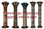 Egyptian collums pack by 3DigitalStock