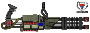 Fictional Firearm: Plasma Minigun HC-401 RView by CzechBiohazard
