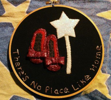 No Place like Home Embroidery hoop w/ felt/glitter by WhimsicallyObsessed