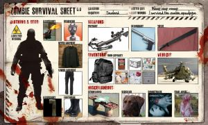 Zombie Survival Sheet by aragon257