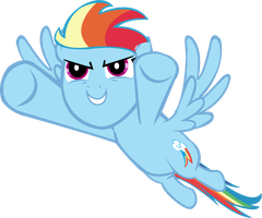 To the Sky - Rainbow Dash vector by LottaPotatoSalad
