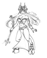 another Draenei sketch... by NiAlexanderArt
