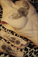 Custom Henna + Mandala Tattoo by asainemuri